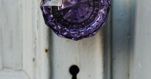 I find old glass door knobs to be very lovely. I might