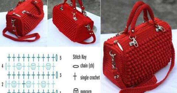 Sacs 224 main mod 232 les de crochet and motifs on pinterest