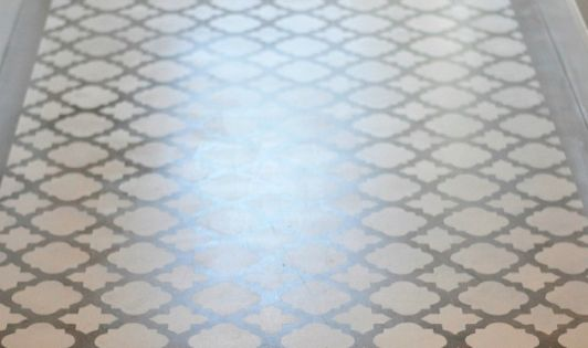 Stenciling A Concrete Floor Design Bar Areas And Keller