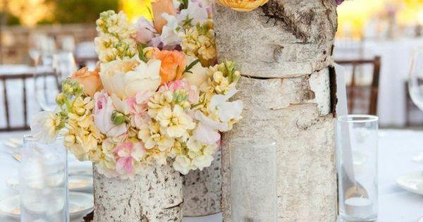 Décoration de table printanière en vases à fleurs originaux ...