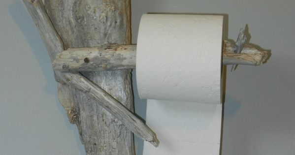 D Vidoir D Rouleur De Papier Toilette En Bois Flott Et