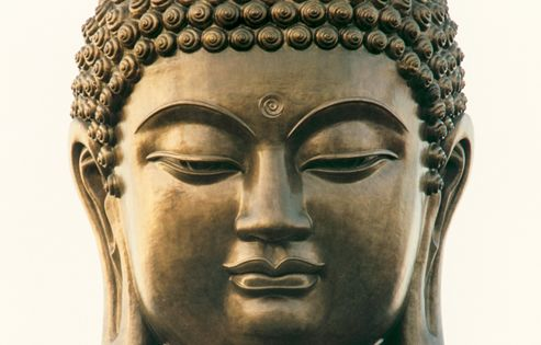 Tian Tan Buddha - With face like a full moon, a broad ...