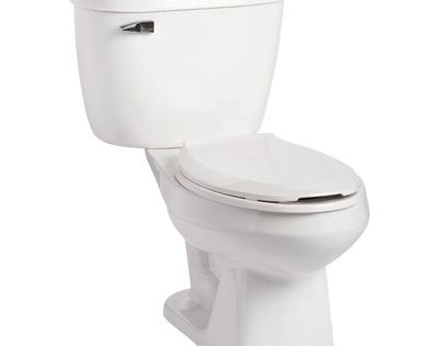 Mansfield Plumbing Products Quantum Pressure Assist 1 6 Gpf Elongated Two Piece Toilet Seat Not Included Traditional Toilets Toilet Wall Hung Toilet