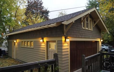 Arts And Crafts Style Garage Metropolis Garage Style Craftsman Farmhouse Craftsman Exterior