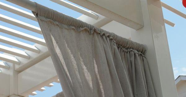 Canvas Drop Clothes Curtains For Pergola Canvas Drop Cloths Pinterest Pergolas