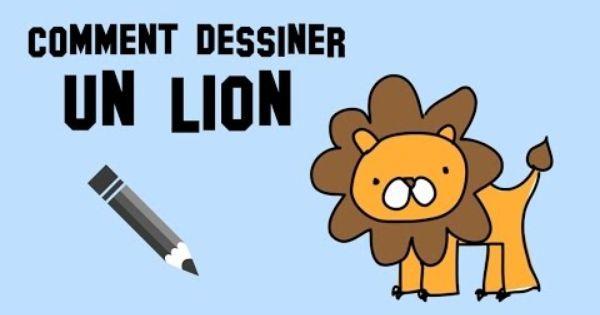 Comment dessiner un lion un mod le simple et facile - Comment dessiner un lion ...
