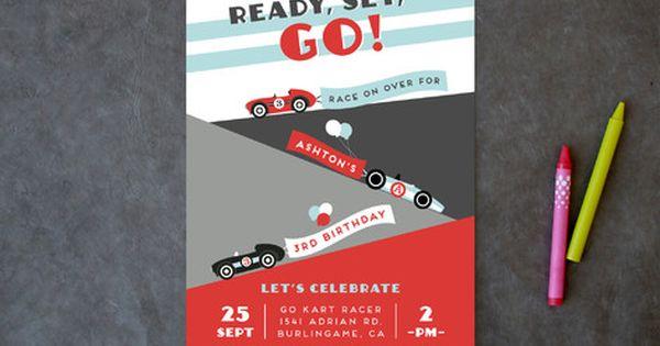 Monaco Children's Birthday Party Invitations designed by Shirley Lin Schneider Race Car Birthday ...