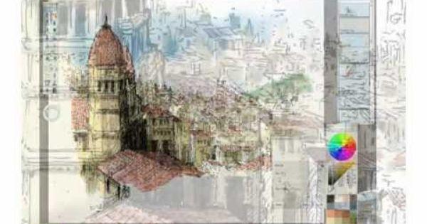 Architectural Sketch On Sketchbook Pro Bocetos Dibujos Como