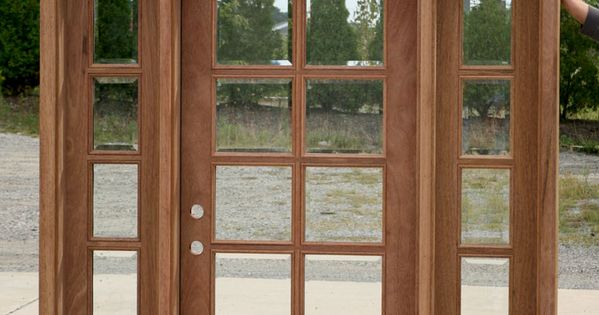 Exterior french doors with sidelights and transom change for French doors with sidelights