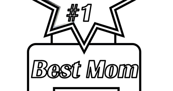 Mothers Day Printable Of You #1 Best Mom Ribbon. You Can