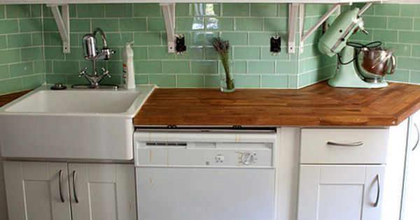 Modern-Retro Bungalow Kitchen home DIY... perfect for our small kitchen... just picked