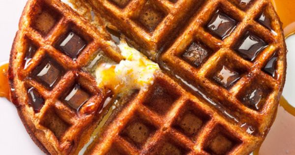 Gingerbread Waffles with Vanilla Bean - Orange Butter -- Sweeten up your