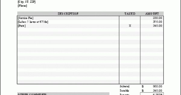 pinterest invoice template