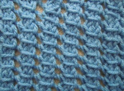 How To Follow A Knitting Pattern : The Pillar Openwork knitting stitch is a simple pattern to follow as there ar...