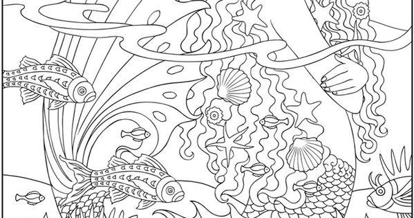 Deniz Kizi Art Desen Boyama Kitaplari Boyama Sayfalari Ve