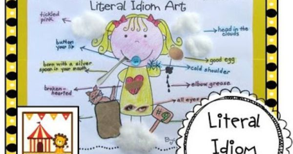 Literal idiom art activity...my kiddos LOVE it! | See more about Art