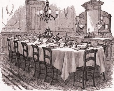 Pin By Paula Esquivel On Retro Spection Industrial Revolutions Victorian Table Setting Dining Room Victorian Victorian Dining Tables