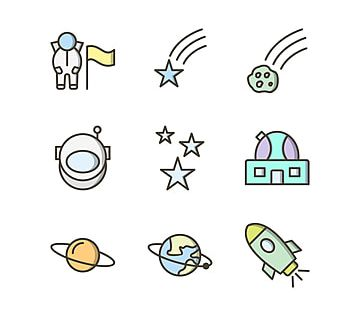 9 Icon Set Of Astronomy For Personal And Commercial Use Personal Icons Commercial Icons Use Icons Png And Vector With Transparent Background For Free Downloa Icon Set Icon Astronomy