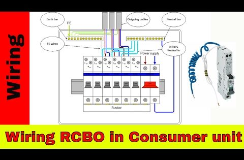 How To Wire Rcbo In Consumer Unit Uk Rcbo Wiring Youtube Home Electrical Wiring Electrical Gadgets Electrician Wiring