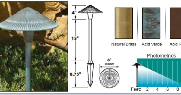 Tiki Hat 8 Solid Brass 12v Area Landscape Light Available At Grandlight Com Landscape Lighting Area Lights Landscape