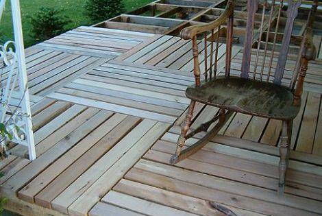 Como poner suelos de palets shop pinterest palets - Colocar suelo terraza ...
