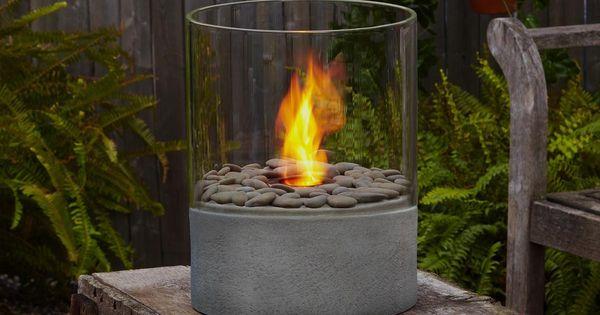 Back Patio: Modesto fire feature