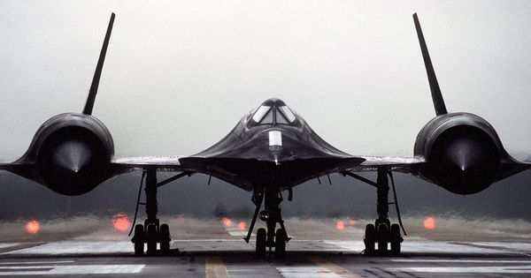 SR-71 Blackbird. Flies at the edge of space, faster than a rifle bullet. Had to be invented from ...