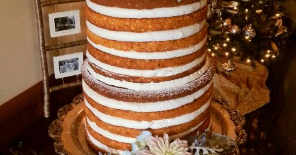 Cake Decorations Montgomery Al : Naked cake by Jennie Weller Catering at the Young House in ...