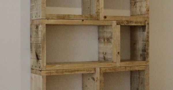 "repurposed pallet shelving - great idea for book shelves or even ""what-knots"""