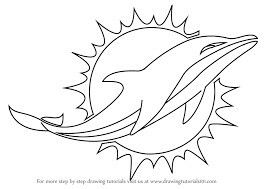 Miami Dolphins Logo Blank Dolphin Coloring Pages Miami Dolphins