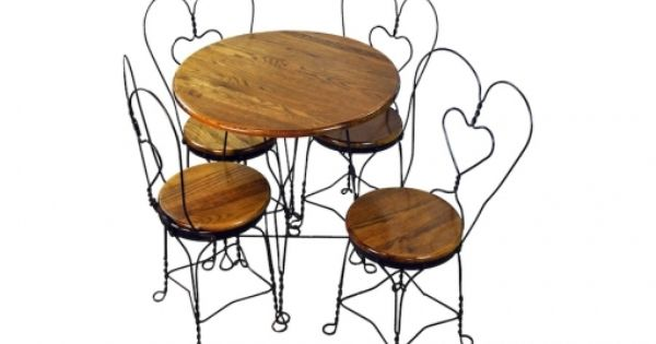 Repurpose Vintage Ice Cream Parlor Table Set 30 Off