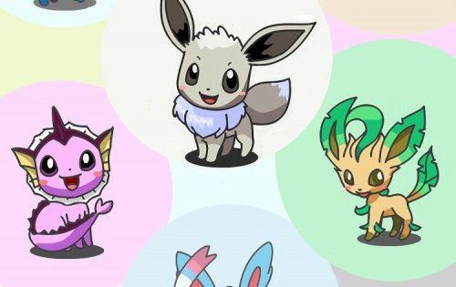 Hair Style Eevee: Eevee And Eeveelutions Pokemon On IPhone Mode Wallpaper
