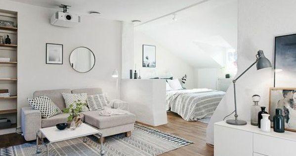 meubler un studio 20m2 voyez les meilleures id es en 50 photos am nagement petit studio. Black Bedroom Furniture Sets. Home Design Ideas