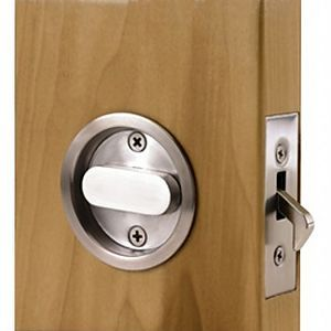 Linnea Llc Pl66r Pr Linnea Stainless Steel Pocket Door Privacy Latch The Hardware Hut Pocket Door Lock Door Casing Door Hardware