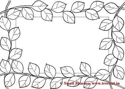 Frames Coloring Pages Cerceve Kartlar Bitki