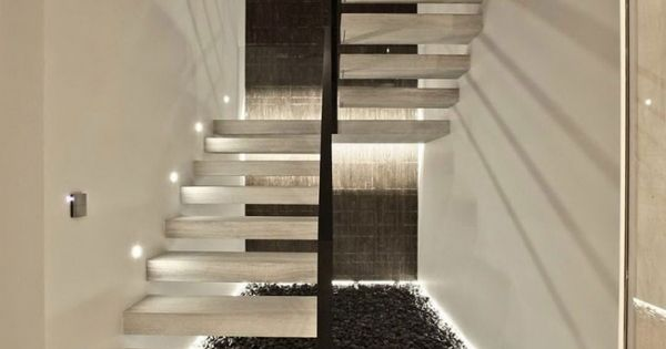 schwebende treppen aus sichtbeton mit indirekter beleuchtung treppen pinterest schwebende. Black Bedroom Furniture Sets. Home Design Ideas