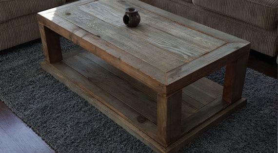 Mesa de centro mesa de centro de madera recuperada mesa - Mesa de centro rustica ...