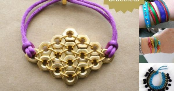 DIY Jewelry DIY Nautical Rope : DIY Hex Nut Diamond Bracelet