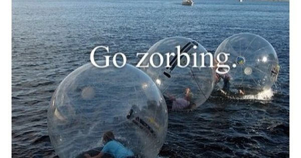 Zorbing in New Zealand. Omfg. I wanna do this before I die.