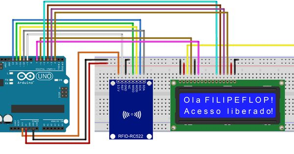 Circuito rfid lcd arduino pinterest
