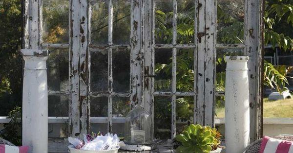 Id es d co jardin de style rustique brise vue en vieille for Decoration jardin rustique