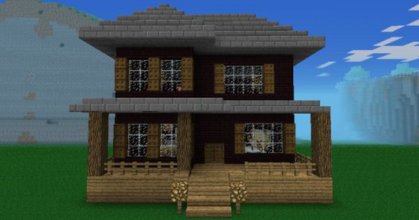 Cool Compact Woodland House Design Minecraft Pocket Edition Decorating