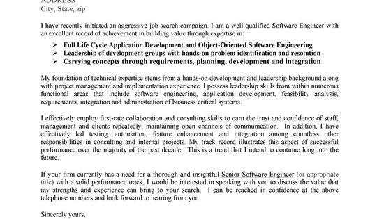 cover letter samples for jobs not advertised