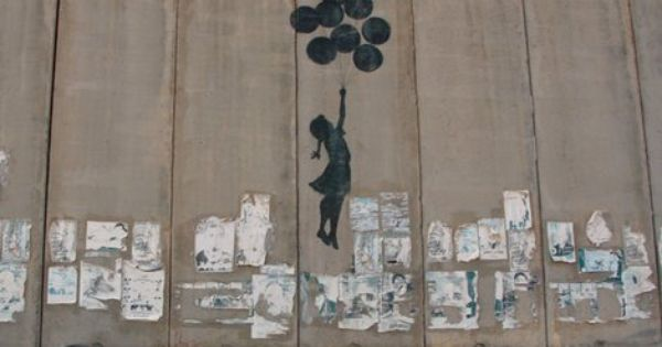banksy political street art getting over the wall near from palestine to isreal street art. Black Bedroom Furniture Sets. Home Design Ideas