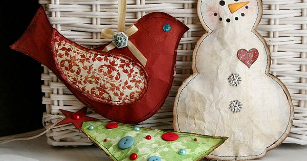 christmas ideas -- stitched paper. Love!