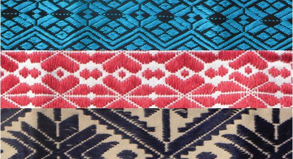 Embroidered traditional mexican patterns viva fiesta