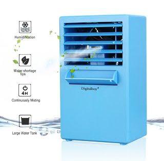 Features Benefits Digitalboy Portable Air Conditioner Fan 9 5 Inch Small Desktop Fan Personal Mi Portable Air Conditioner Evaporative Air Cooler Air Cooler