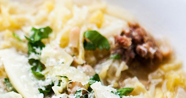 simple Italian peasant stew with cabbage, parsley and Italian sausage ...