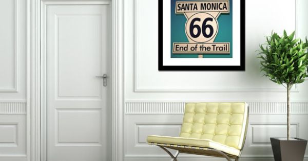 Route 66 End Of The Trail Sign Santa Monica Art Road