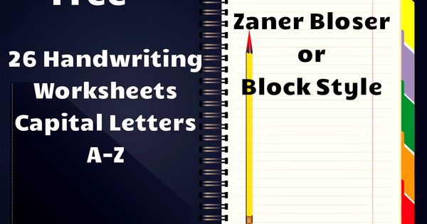 Printables Zaner Bloser Handwriting Worksheets free handwriting worksheets includes for all capital letters with directions to form the space tracing an